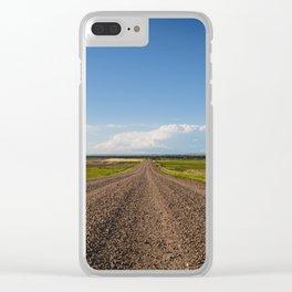 Summer Roads, Glasgow, Montana 2 Clear iPhone Case