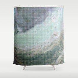 Saturn Infrared Shower Curtain