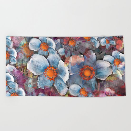 Flower carpet(53). Beach Towel