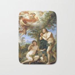 Charles-Joseph Natoire The Rebuke of Adam and Eve Bath Mat