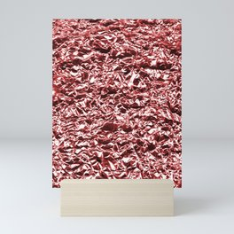 metal texture broken lines Mini Art Print