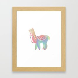 Colorful Alpaca Framed Art Print