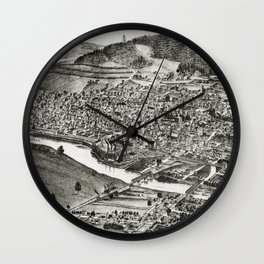 Corning - New York - 1882 Wall Clock