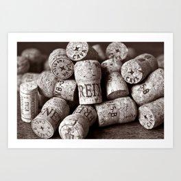 Cork of Champagne - Brown Duplex Art Print