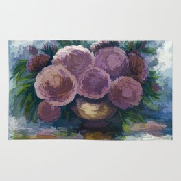 Just For You Pink Toned Roses Rug