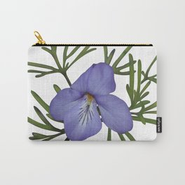 Viola Pedata, Birds-foot Violet #society6 #spring Carry-All Pouch