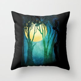Dance By The Light Of The Full Moon Throw Pillow