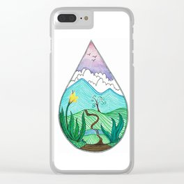Landscape in a Raindrop Clear iPhone Case