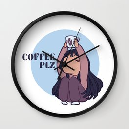 Coffee PLZ Wall Clock
