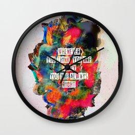 C R ▲ Z Y Wall Clock