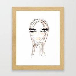 Lady Browny Framed Art Print