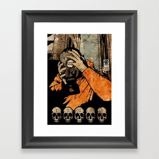 Leroy And The Five Dancing Skulls Of Doom Framed Art Print
