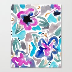Blue Hibiscus Canvas Print
