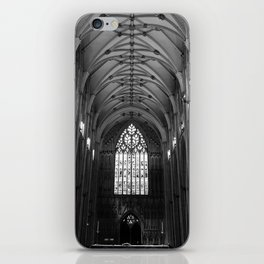 Black & White Cathedral Ceiling iPhone Skin