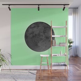 BLACK MOON + LIME GREEN SKY Wall Mural