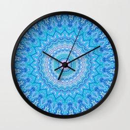 Frosty Opalescence Wall Clock