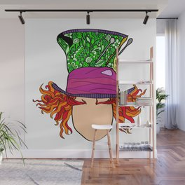 The Madhatter Wall Mural