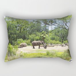 Elephant in African Savannah Rectangular Pillow