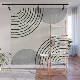 Sun Arch Double - Grey Wall Mural