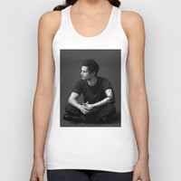 bucky barnes Tank Tops featuring Bucky Barnes by E Cairns Art