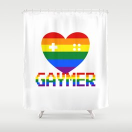 GAYmer at Heart Shower Curtain