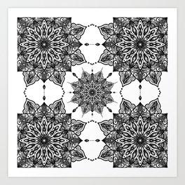monika's mandala with love Art Print
