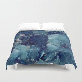 Blue Marble Texture Duvet Cover