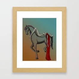 The Horse and the Girl Framed Art Print