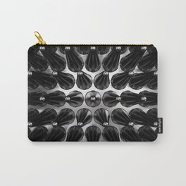 Black On Black Latex Spikes Carry-All Pouch