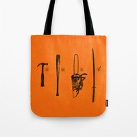 pulp Tote Bags featuring Pulp Makers by Evan Luza