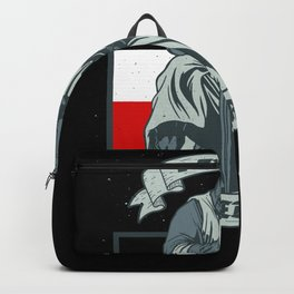 German Empire Flag Knight Sword Backpack