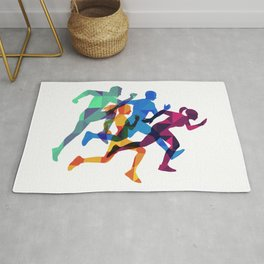 Colored silhouettes runners Rug