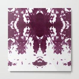 Velvet Kumo Shibori Plum Metal Print