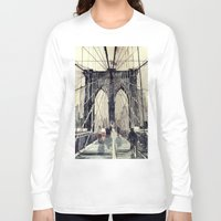 brooklyn bridge Long Sleeve T-shirts featuring Brooklyn Bridge by takmaj