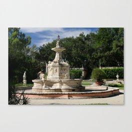 Garden Fountain Villa Vizcaya Canvas Print