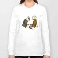 drunk Long Sleeve T-shirts featuring Drunk Dog by Jonah Makes Artstuff