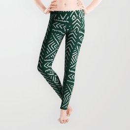 Line Mud Cloth // Brunswick Green Leggings