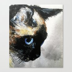 Siamese Cat Right Side Tapestry Canvas Print