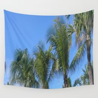 palms Wall Tapestries featuring PALMS by ....