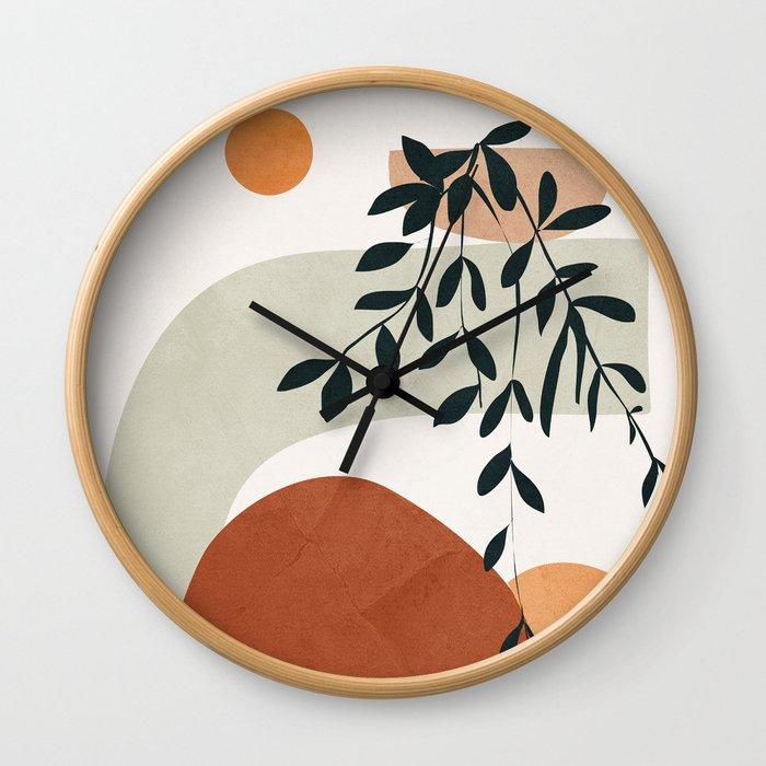 Soft Shapes I Wall Clock