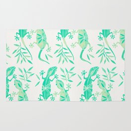 Geckos – Mint Palette Rug