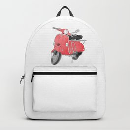Red moto Backpack