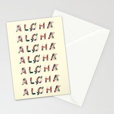 Aloha in Flowers Stationery Cards