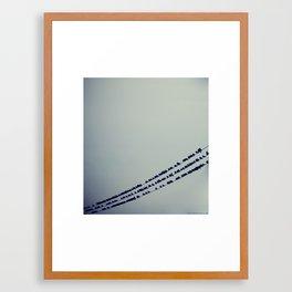 Birds On Wires Framed Art Print