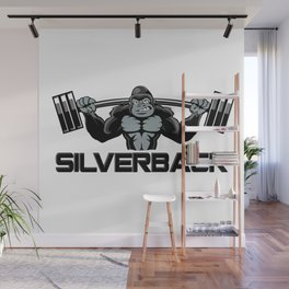Strong monkey cartoon Wall Mural