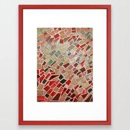 Razzle Red Mosaic Framed Art Print