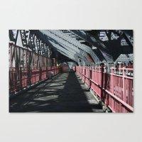 rileigh smirl Canvas Prints featuring Williamsburg Bridge by Rileigh Smirl