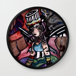 Circus of Shadows Wall Clock