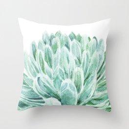 Watercolor cactus print Throw Pillow