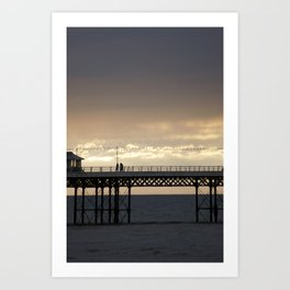 cromer pier Art Print